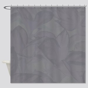 Gray Leaves Shower Curtain