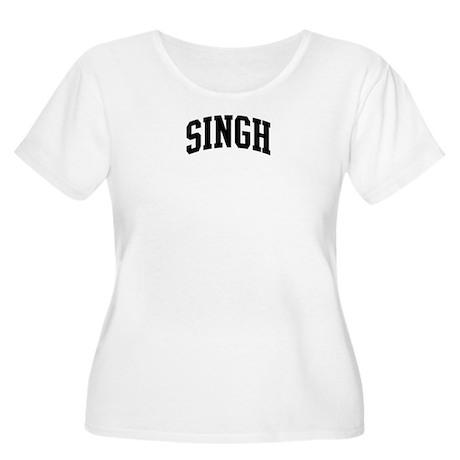 SINGH (curve-black) Women's Plus Size Scoop Neck T