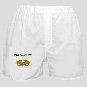 Custom Pumpkin Pie Boxer Shorts