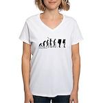 Astronaut Evolution Women's V-Neck T-Shirt