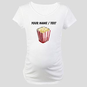Custom Popcorn Maternity T-Shirt