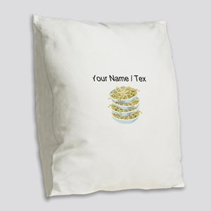 Custom Bowls Of Noodles Burlap Throw Pillow
