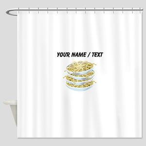 Custom Bowls Of Noodles Shower Curtain