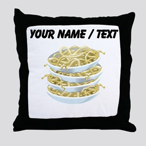 Custom Bowls Of Noodles Throw Pillow