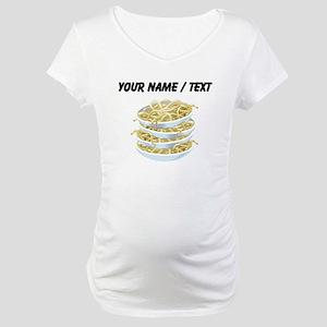 Custom Bowls Of Noodles Maternity T-Shirt