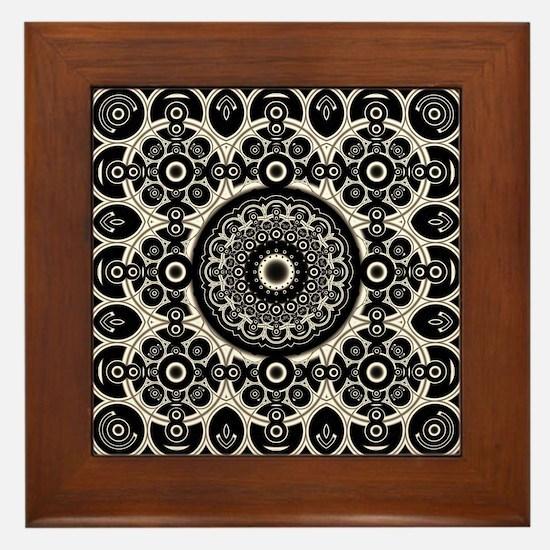 Lacy Mandala Framed Tile