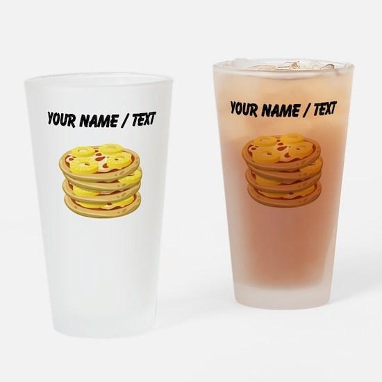 Custom Pineapple Pizza Drinking Glass