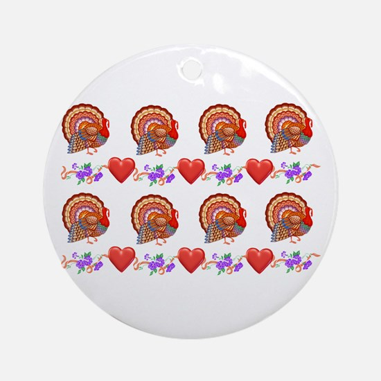 Festive Thanksgiving Ornament (Round)