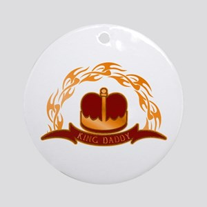 King Daddy Royal Crown Ornament (Round)