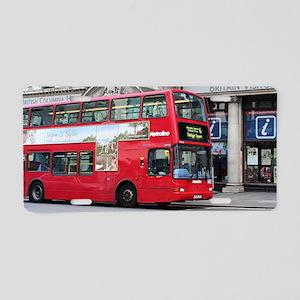 Red London Double Decker Bu Aluminum License Plate
