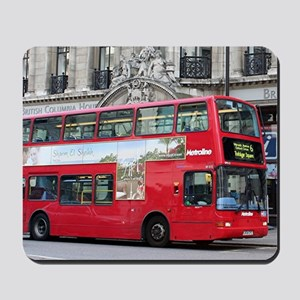 Red London Double Decker Bus, England Mousepad