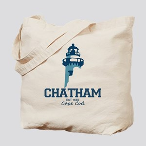 Chatham. Cape Cod. Lighthouse Design. Tote Bag