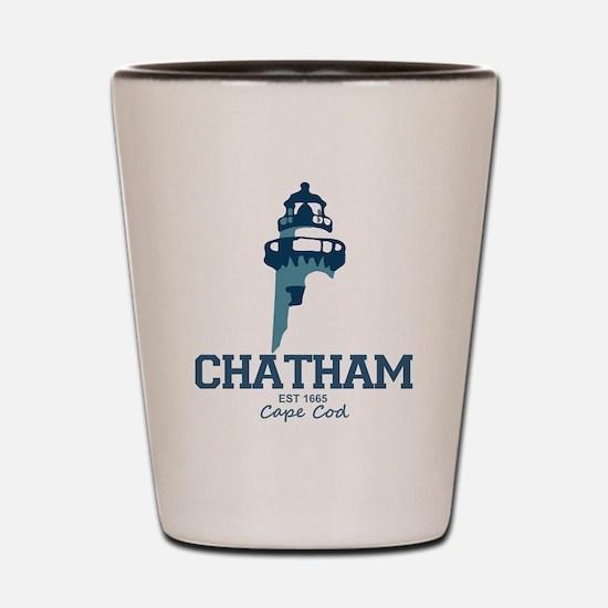 Chatham. Cape Cod. Lighthouse Design. Shot Glass