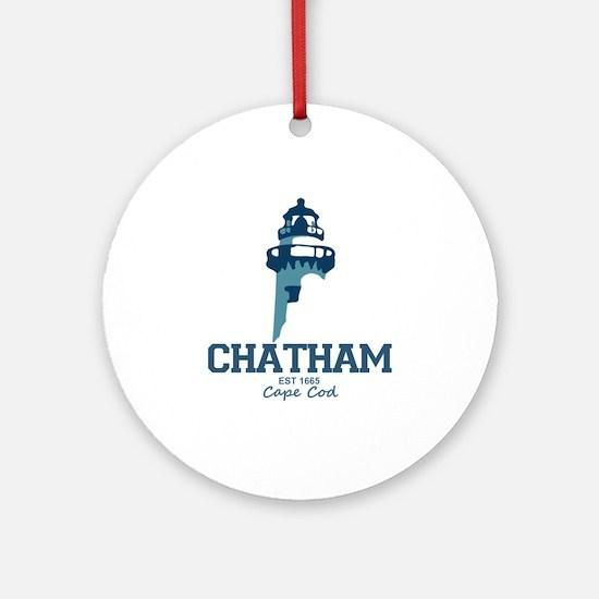 Chatham. Cape Cod. Lighthouse Des Ornament (Round)