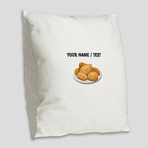 Custom Hot Potatoes Burlap Throw Pillow