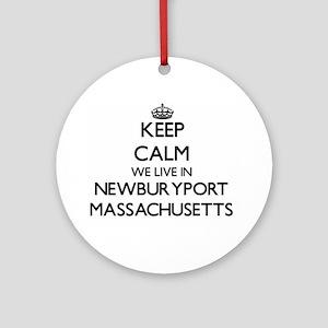 Keep calm we live in Newburyport Ornament (Round)
