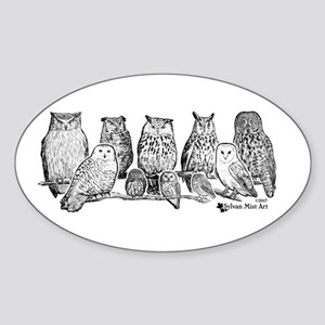 Owls - Ink Drawing Sticker