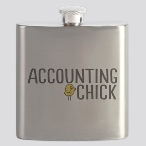 Accounting Chick Flask