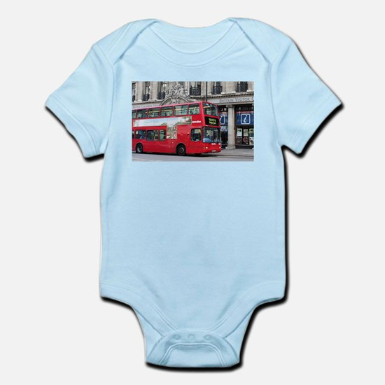 Red London Double Decker Bus, England Body Suit