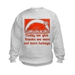 Thanksgiving Humor Blessing Kids Sweatshirt