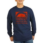 Thanksgiving Humor Blessing Long Sleeve Dark T-Shi