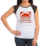 Thanksgiving Humor Blessing Women's Cap Sleeve T-S