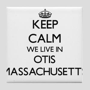 Keep calm we live in Otis Massachuset Tile Coaster