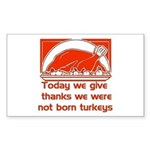 Thanksgiving Humor Blessing Rectangle Sticker