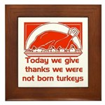 Thanksgiving Humor Blessing Framed Tile
