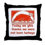 Thanksgiving Humor Blessing Throw Pillow