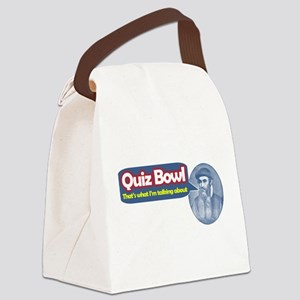 Quiz Bowl Canvas Lunch Bag