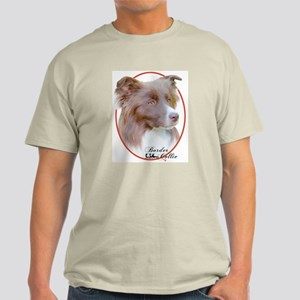 Red Border Collie Cameo Ash Grey T-Shirt