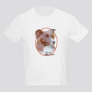 Red Border Collie Cameo Kids T-Shirt