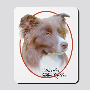 Red Border Collie Cameo Mousepad