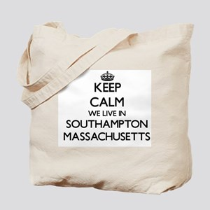 Keep calm we live in Southampton Massachu Tote Bag