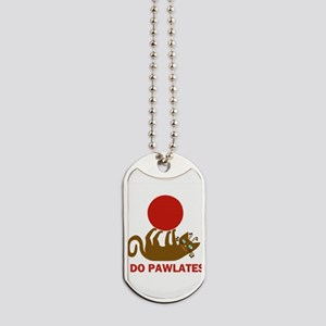 I Do Pawlates Cat and Exercise Humor Dog Tags
