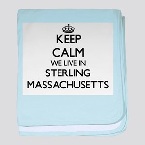 Keep calm we live in Sterling Massach baby blanket