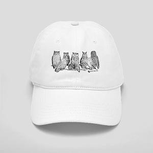 Owls - Ink Drawing Cap