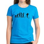 Cross Country Ski Evolution Women's Dark T-Shirt