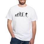 Cross Country Ski Evolution White T-Shirt