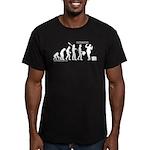 Following Evolution Men's Fitted T-Shirt (dark)