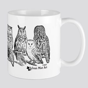 Owls - Ink Drawing Mugs