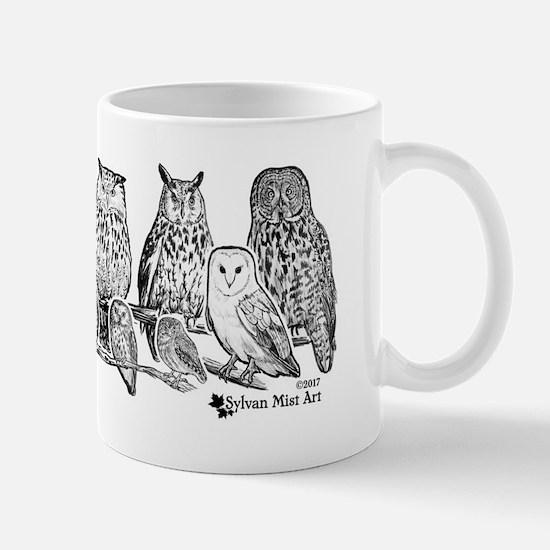 Owls - Ink Drawing Mugs