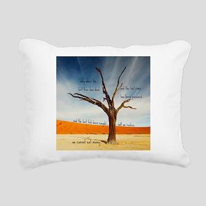 We Cannot Eat Money Rectangular Canvas Pillow