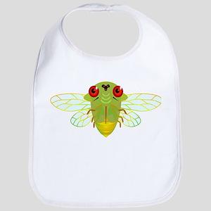Cute Green Cicada Bib