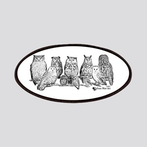 Owls - Ink Drawing Patch