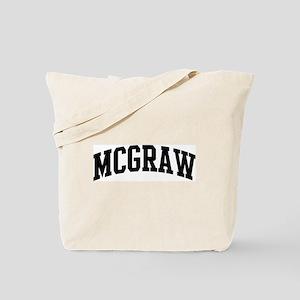 MCGRAW (curve-black) Tote Bag
