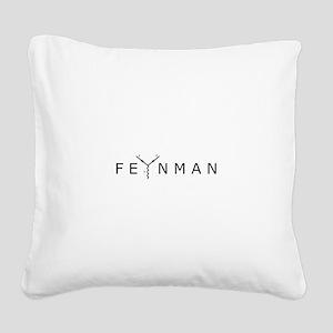 Feynman Square Canvas Pillow