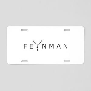 Feynman Aluminum License Plate