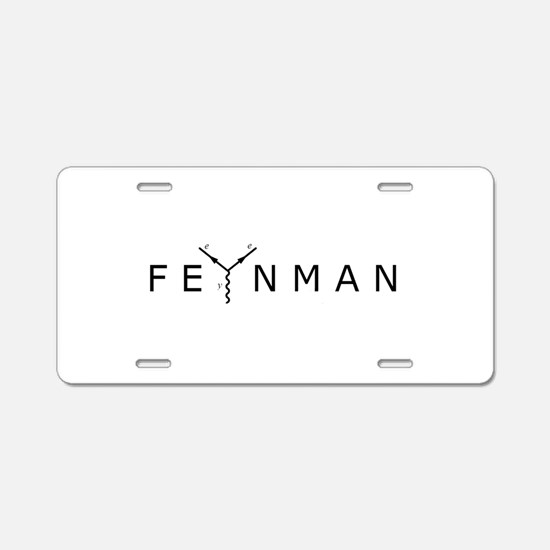 Feynman Aluminum License Plate